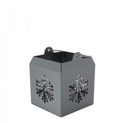 XMS0070A - Lanterna con decorazioni a fiocco di neve