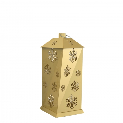 XMS0074 - Lanterna piccola con decorazioni a fiocco di neve.