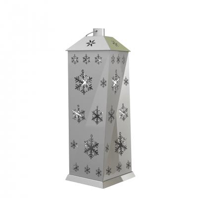XMS0075 - Lanterna grande con decorazioni a fiocco di neve