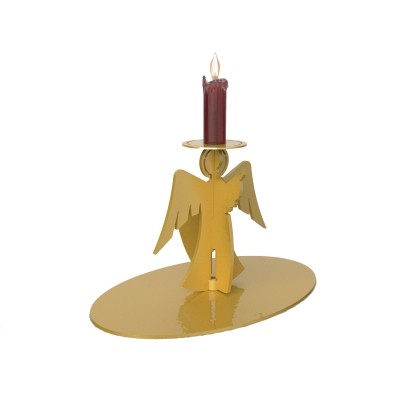 XMS0050 - Supporto per candela a forma di angelo