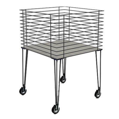 MGT001 - High promotional basket in building rod with wooden shelf