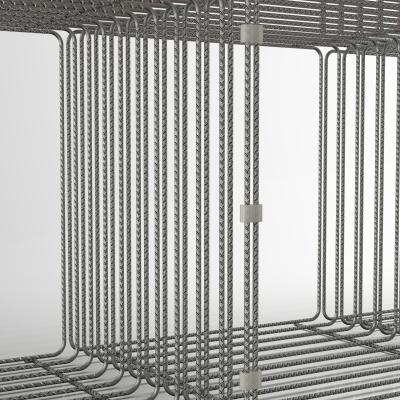 QB0600 - Espositore in tondino edile a forma di parallelepipedo