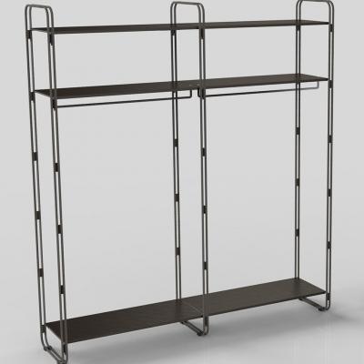 7100E - Kit estensione scaffale modulare da parete, passo 900.
