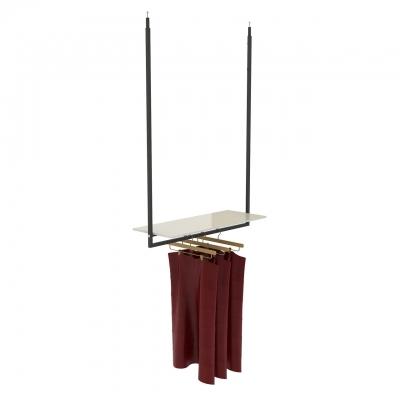 9673 - Mensola centrata per struttura a soffitto art.9670 e cornici scorrevoli art.9635B-9636B
