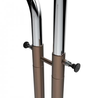 CIC070 - Stender a doppia barra regolabile in altezza in tubo Ø35 mm