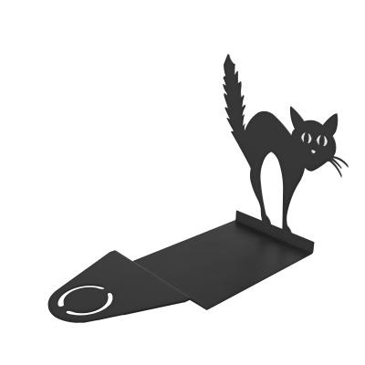 HLW0021 - Supporto per candela con sagoma di gatto