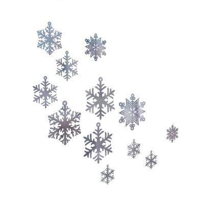 XMS0060 - Set di decorazioni a forma di fiocco di neve